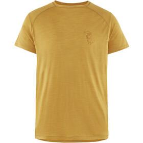 Klättermusen Eir Rain Miehet Lyhythihainen paita , keltainen